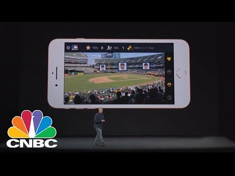 Watch Apple Demonstrate The New iPhone 8's Augmented Reality Features | CNBC
