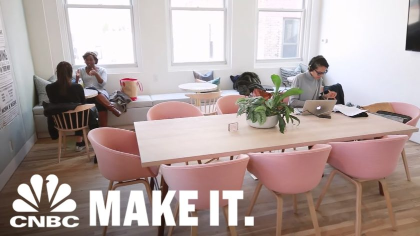Women-Only Co-Working Space Allows Women To Work In Female-Driven Environment | CNBC Make It.
