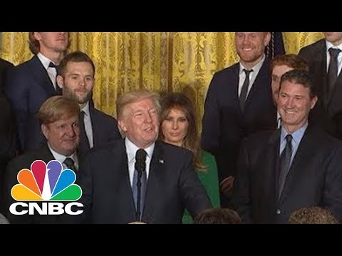 President Donald Trump Welcomes Pittsburgh Penguins To The White House | CNBC