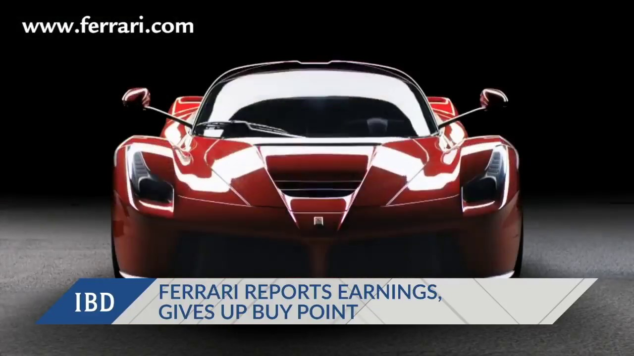 Ferrari Reports Earnings, Gives Up Buy Point